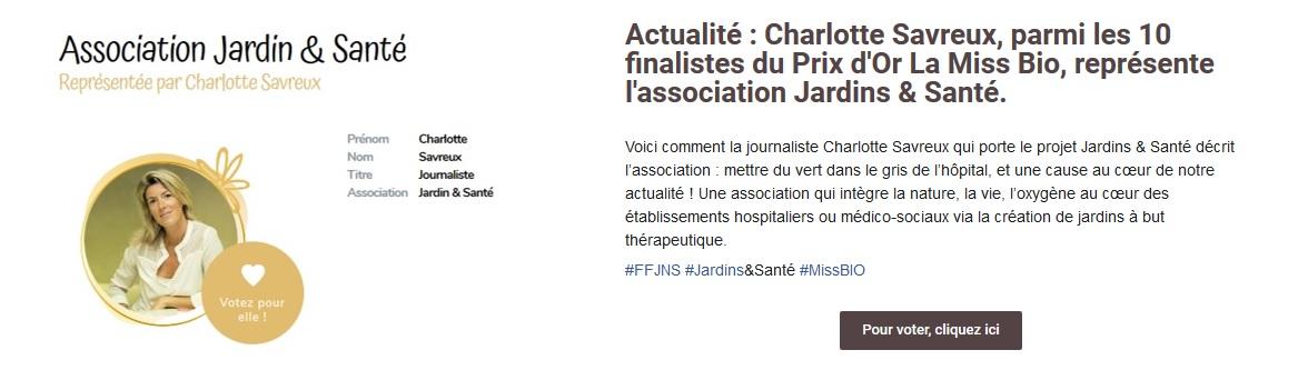 ACTUALITE Charlotte Savreux